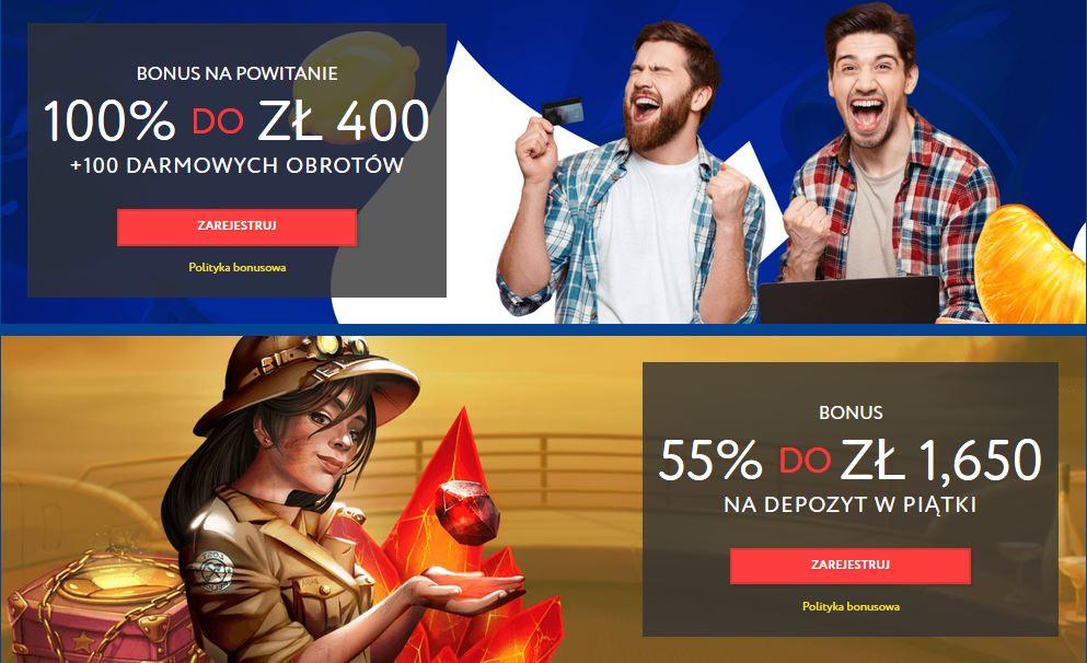 bonusy w kasynie EUSlot