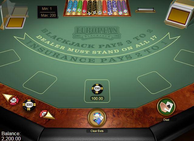 Euro Bonus Blackjack
